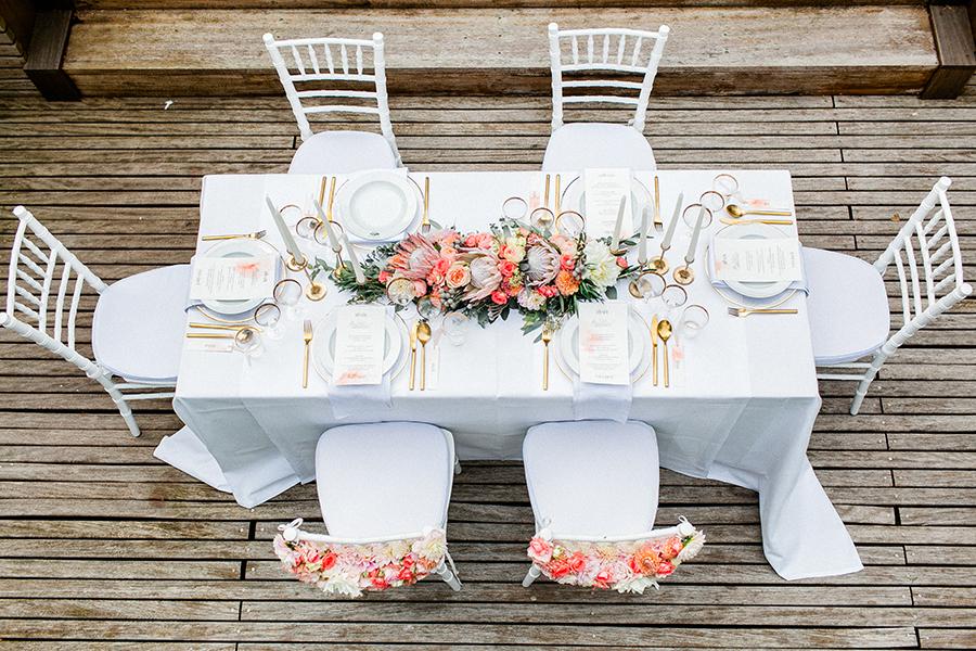 Hochzeitsdeko in koralle und apricot Rosa tischdeko hochzeit