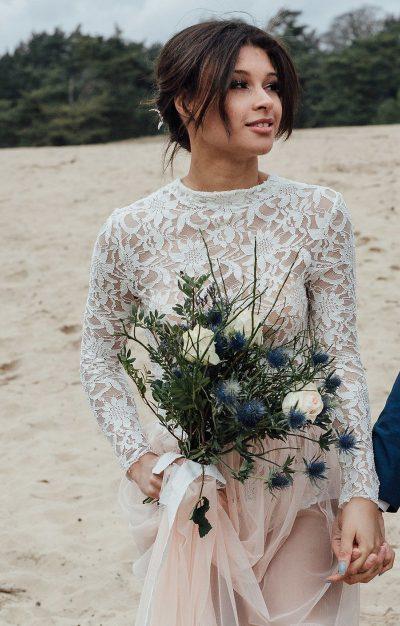 Hochzeitsinspiration in Blau und Cremé