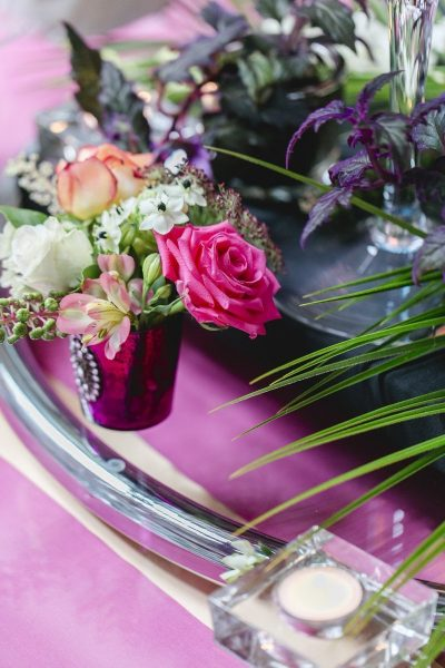 Hochzeitsdeko mit Flamingos