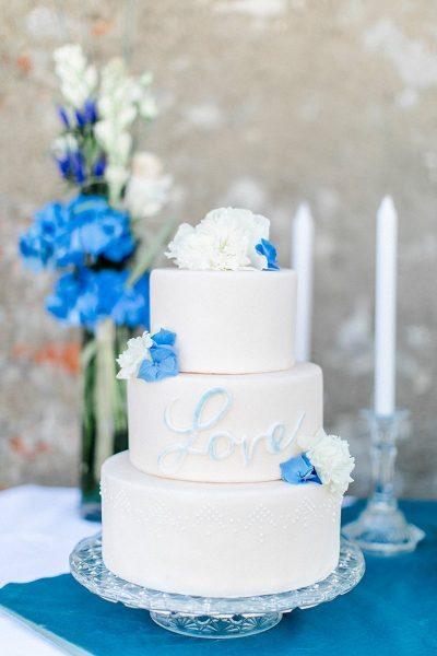 Ein Sweet Table in Blau