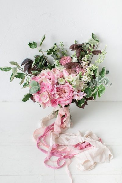 Brautstrauss mit Hortensien