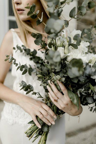 Kupfergoldene Hochzeitsinspiration