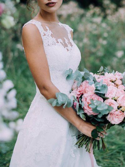 Brautstrauss mit rosa Rosen