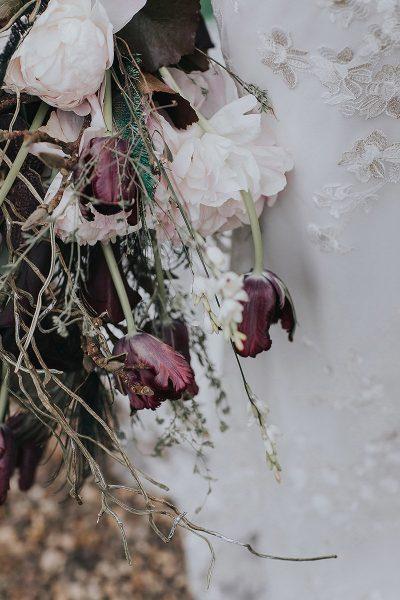 Inspiration mit dunklen Tulpen