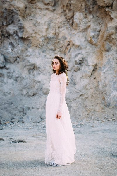 Bridal Editorial im Steinbruch