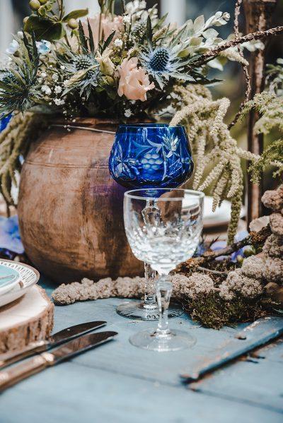 Hochzeitsinspiration in Blau