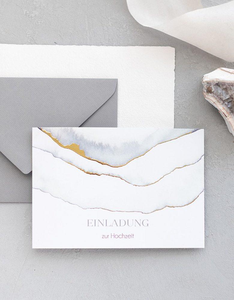 hochzeitskarten marmor