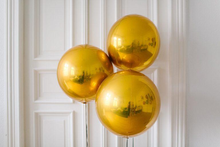 metallic ballons f r die hochzeit. Black Bedroom Furniture Sets. Home Design Ideas