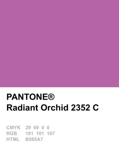 Pantone Farben über die Jahre