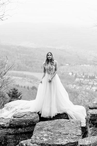 Hochzeitsinspirations in Lila und Gold