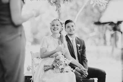 Hochzeit im Schmetterlingsgarten