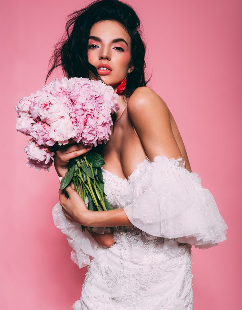 Brautstrauss Pfingstrosen rosa (7)