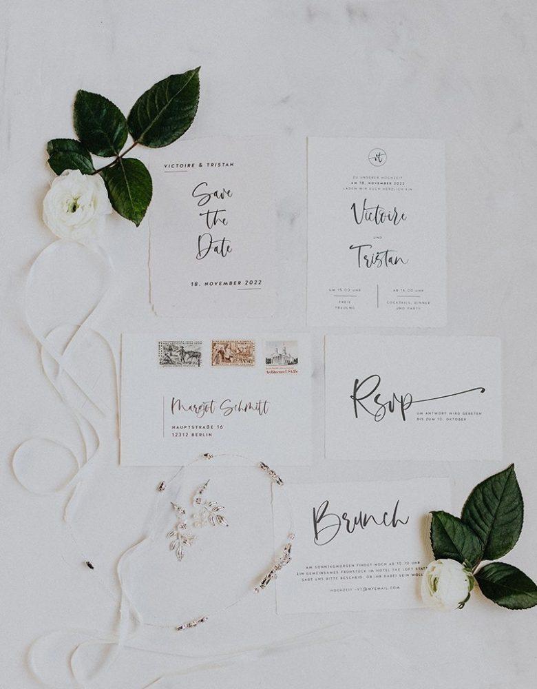 papeterie hochzeit kalligrafie