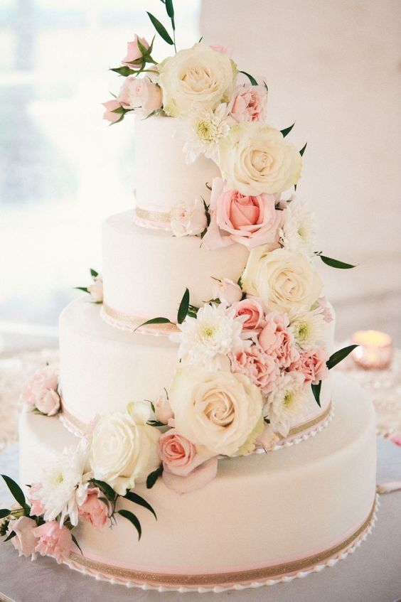 Hochzeitstorten Mit Blumen Friedatheres Com