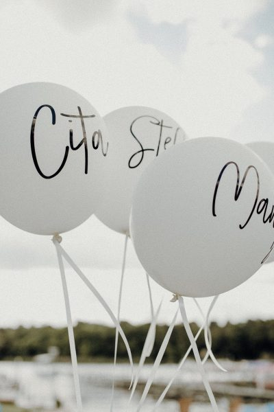 Latexballon 40cm mit individuellem Aufkleber