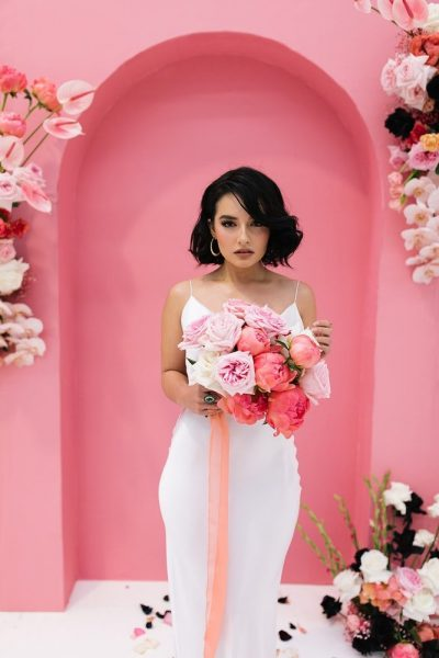 Hochzeitsinspiration in Schwarz Pink