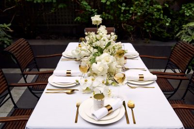 All White Hochzeitsdeko