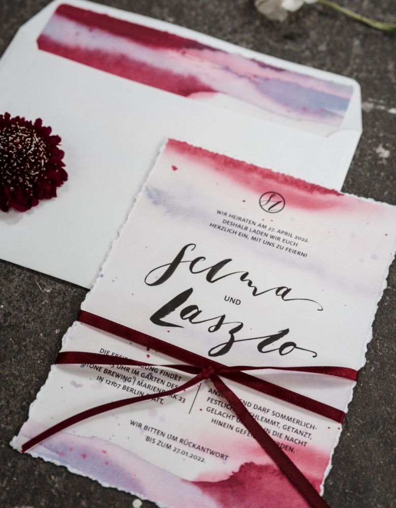 lettering-einladungskarte-abendrot-watercolor-bordeaux-feinimdesign-h