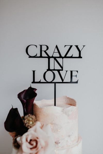 Cake Topper Crazy in Love