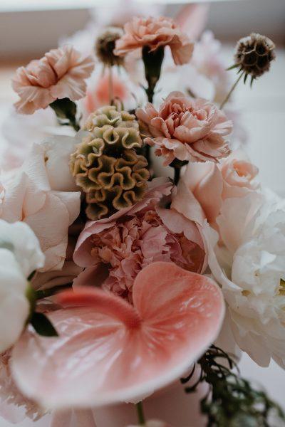 Tischdeko: Monochrom Rosé