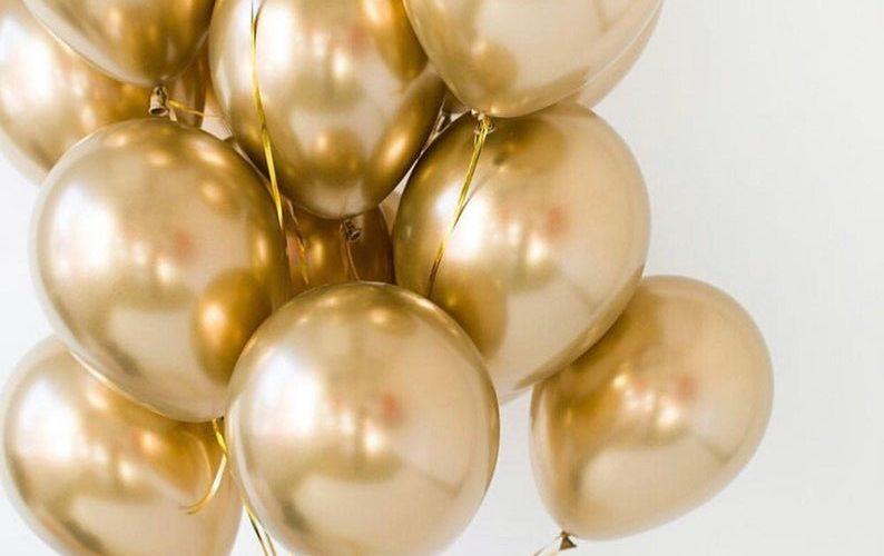 goldene luftballons hochzeit
