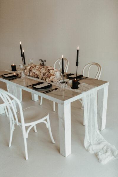 Tischdeko für die Hochzeit: Crazy in love