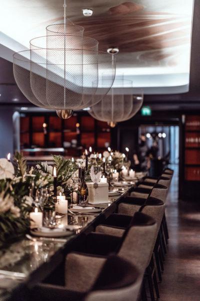 Modern Gatsby Tischdeko
