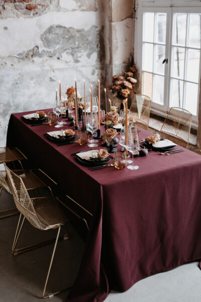Modern Glam: Bordeaux & Black