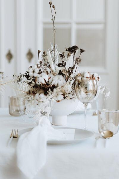 Light Cotton: Hochzeitsdeko für den Winter