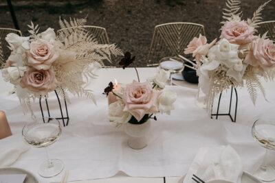 SoHo Glam: Tischdeko in Gold & Rosé