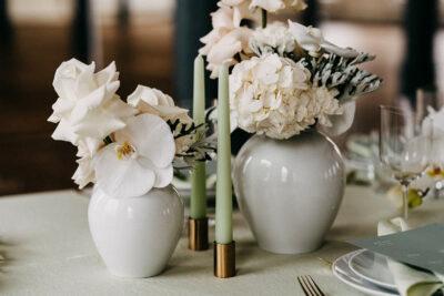 Trends 2021: Hochzeitsdeko in Mint