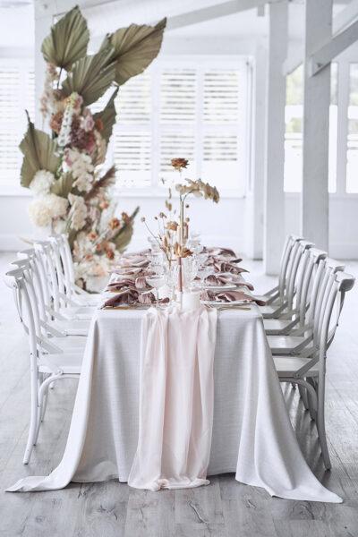 Creamy White – helle Tischdeko