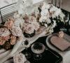 tischdeko rosa schwarz hochzeit (12)