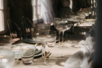 Tischdeko modern Romance