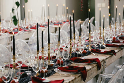 Granatapfel-Liebe: herbstliche Hochzeitsdeko
